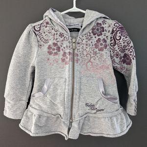 Calvin Klein jeans grey & purple zip up hoodie